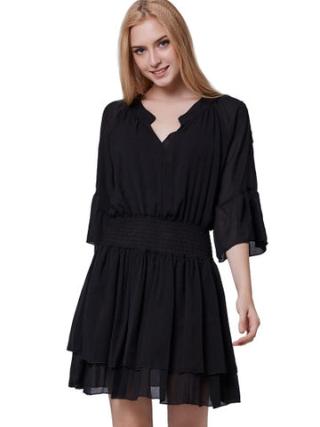 Plain off-Shoulders Chiffon Women's Day Dress(Plus Size Available)