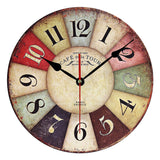Wooden Wall Clock - Shabby/Chic Look & Rustic - Ships Free