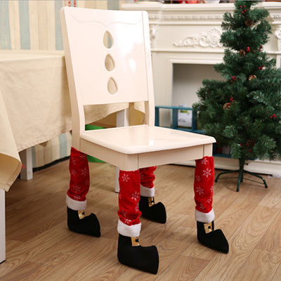 Christmas Chair Feet Covers - Non - Slip - Festive - 4 pcs per order