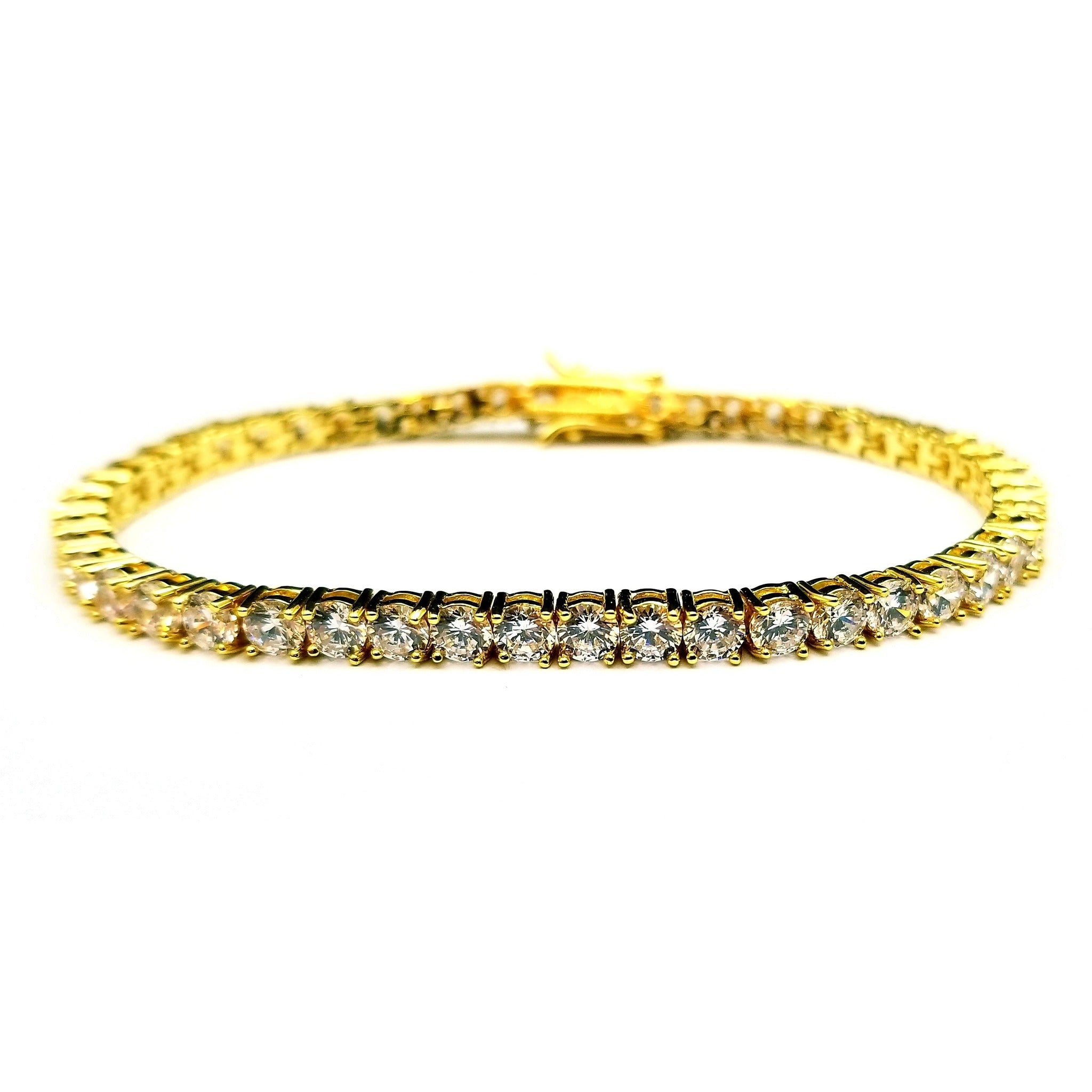 from gold yellow bracelet diamond accented k com bangle edge therealreal bangles pav with pin description