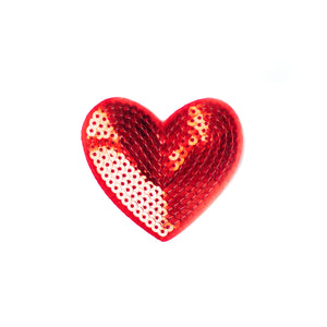 Red Sequin Heart Clip