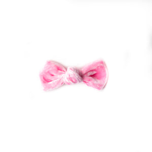 Candy Heart velvet knot bow