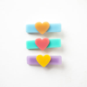Multi Colored Heart Clip Bundle