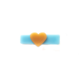Blue and Orange Heart Clip