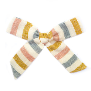 Rainbow Striped Linen Large Schoolgirl