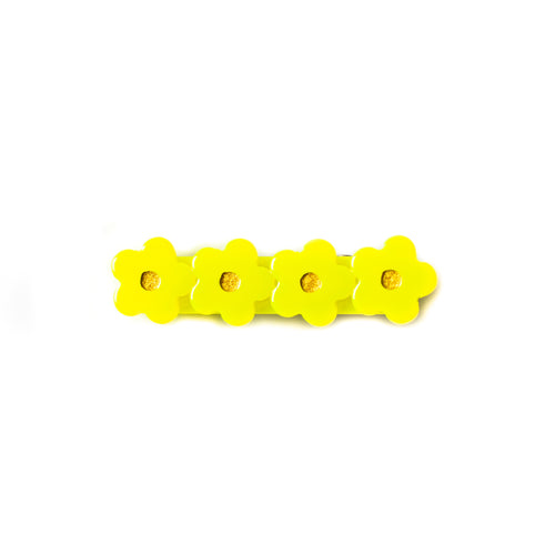 Highlighter Yellow Flower Clip