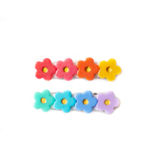 Rainbow Flower Clip Set