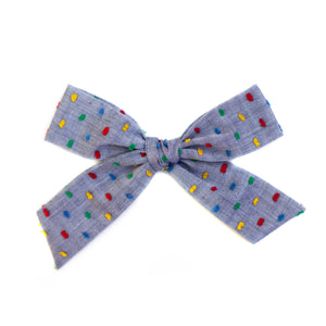 Chambray Rainbow Swiss Dot Large Schoolgirl
