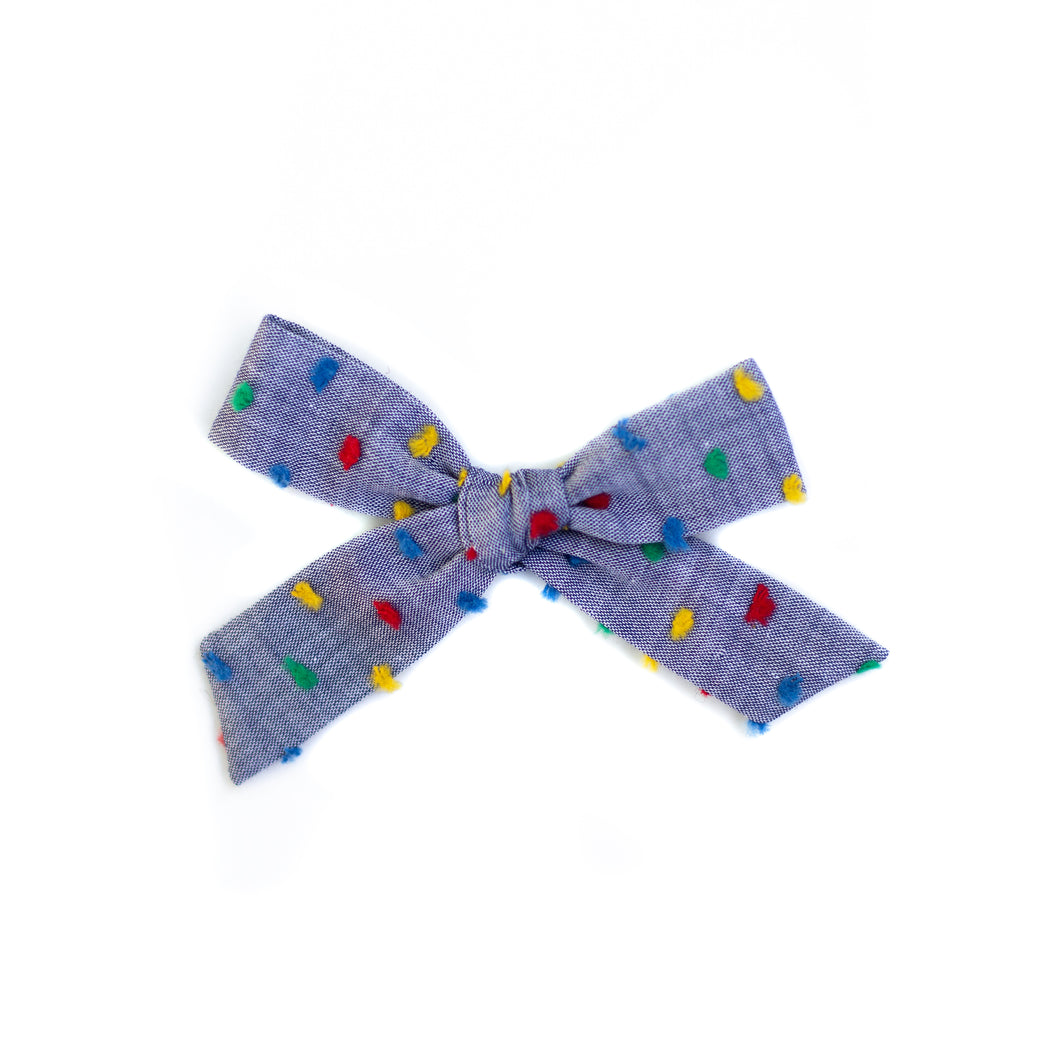Chambray Rainbow Swiss Dot Mini Schoolgirl