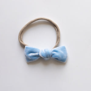 Forget Me Not Velvet Knot Bow