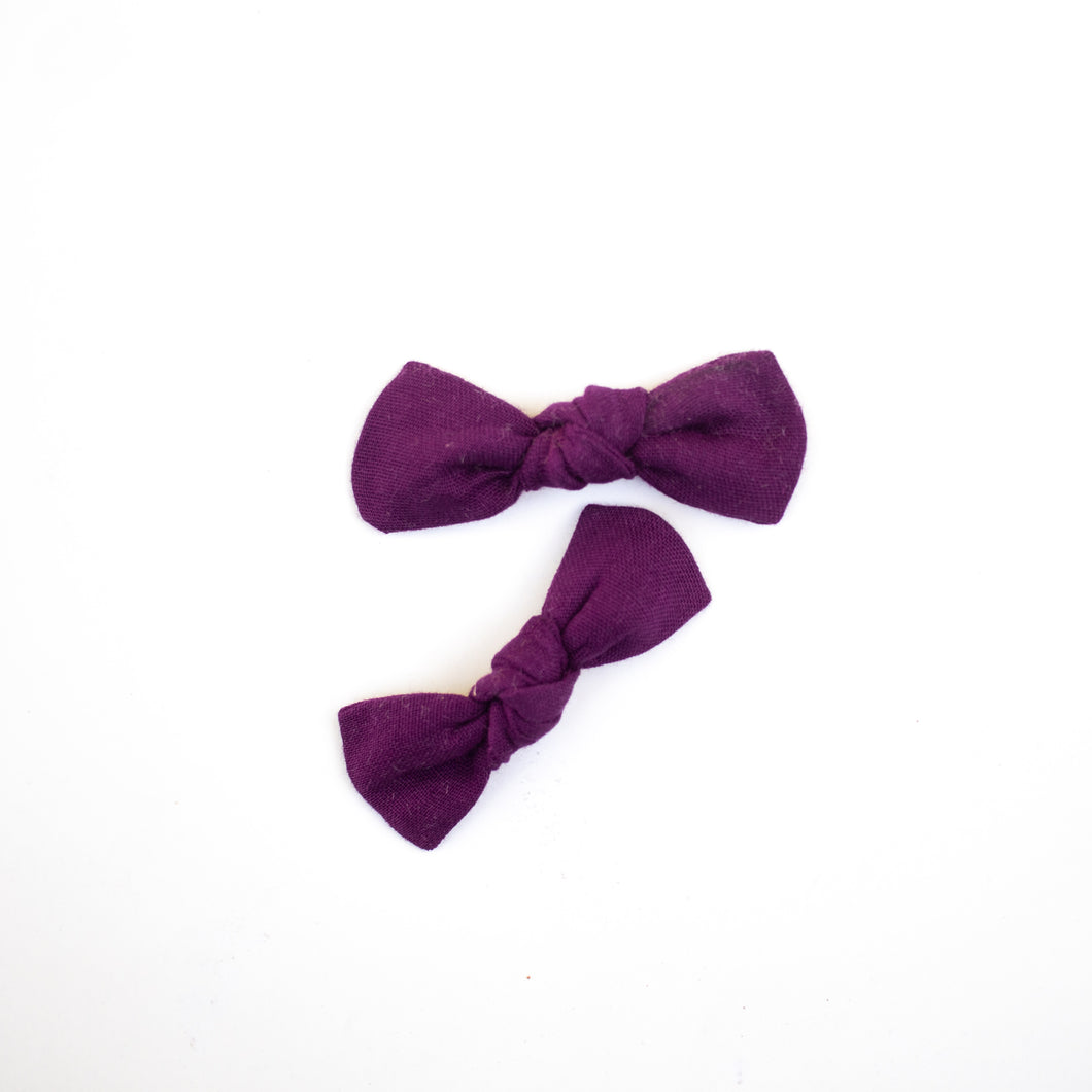 Orchid Knot Bow Pigtail Set