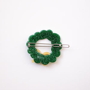 Wreath Barrette