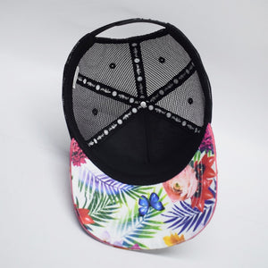 Scribbler best floral trucker cap 5 panel mesh back sun protection unisex ladies mens New Zealand NZ nz womens