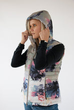 Load image into Gallery viewer, ladies womens puffer vest protea print Scribbler