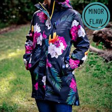 Load image into Gallery viewer, Tropicana fleece bonded waterproof coat - manufacturing flaws