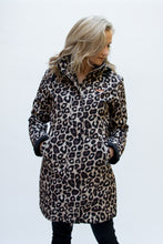 Load image into Gallery viewer, leopard print winter raincoat Scribbler
