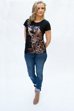 Load image into Gallery viewer, leopard print womens tee tshirt Scribbler