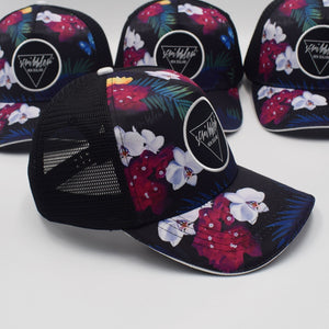Scribbler best floral trucker cap 5 panel mesh back sun protection unisex ladies mens New Zealand NZ nz womens floral cap