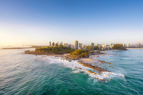 SNAPPER ROCKS AERIAL PANORAMA by Wes Smith