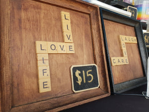 Scrabble Art Frames