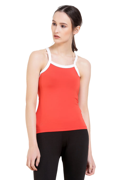 Cross Back Active Tank - Red