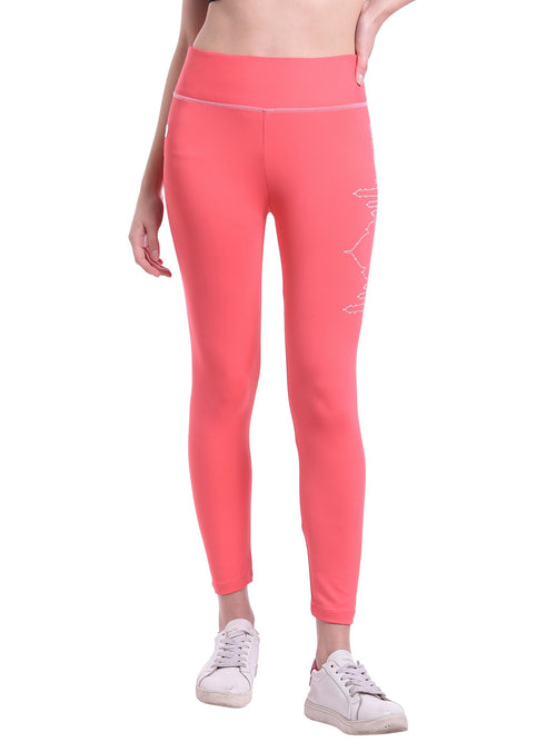 Red Cheri Active Taj Leggings - Pink