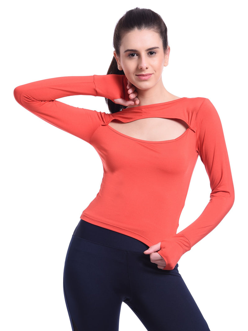 Red Cheri Pavitra Crop Top - Red