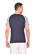 Red Cheri Compression Fit Tee - Blue