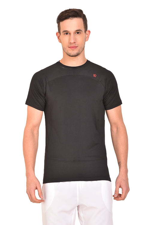 Red Cheri Mens Raw Tee - Black