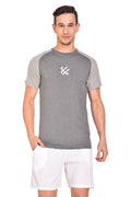 Red Cheri Muscle up Tee - Dark Grey