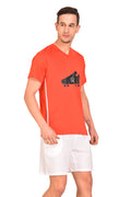 Red Cheri Football T-Shirt - Red