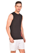 Red Cheri Tennis Tank - Black