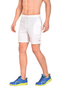 Red Cheri Multifunctional Shorts - White