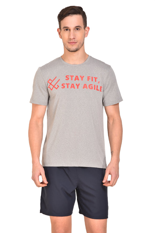 Red Cheri Stay Fit Stay Agile -  Grey