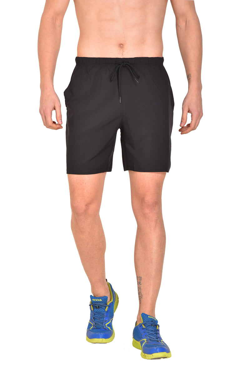 Red Cheri Multifunctional Shorts - Black