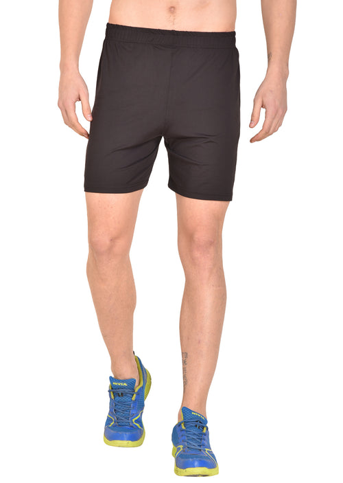 Red Cheri Football Shorts - Black