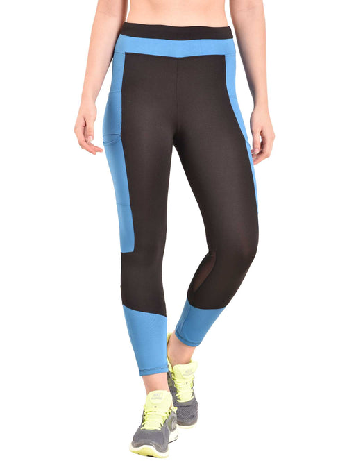 blue Trikon Leggings