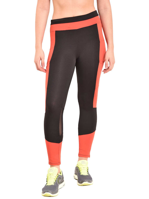 red Trikon Leggings