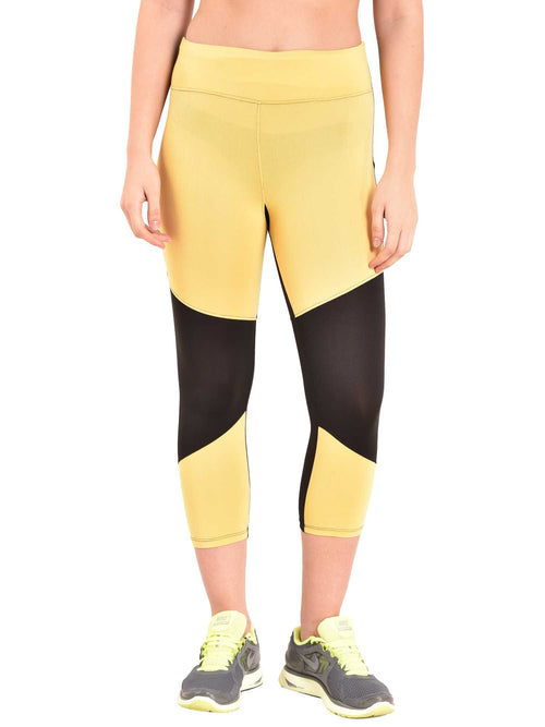 yellow sports leggings