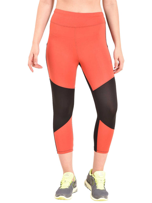 red sports leggings