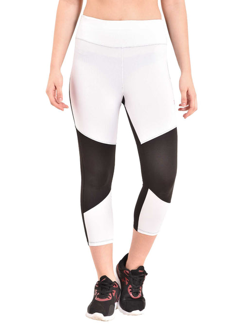white sports leggings