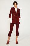 Ember Tailored Pant - Oxblood