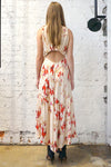 *Exclusive* Restoration Backless Dress - Red/Cream Flower