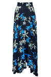 Restoration Circle Skirt - Blue/Black Floral