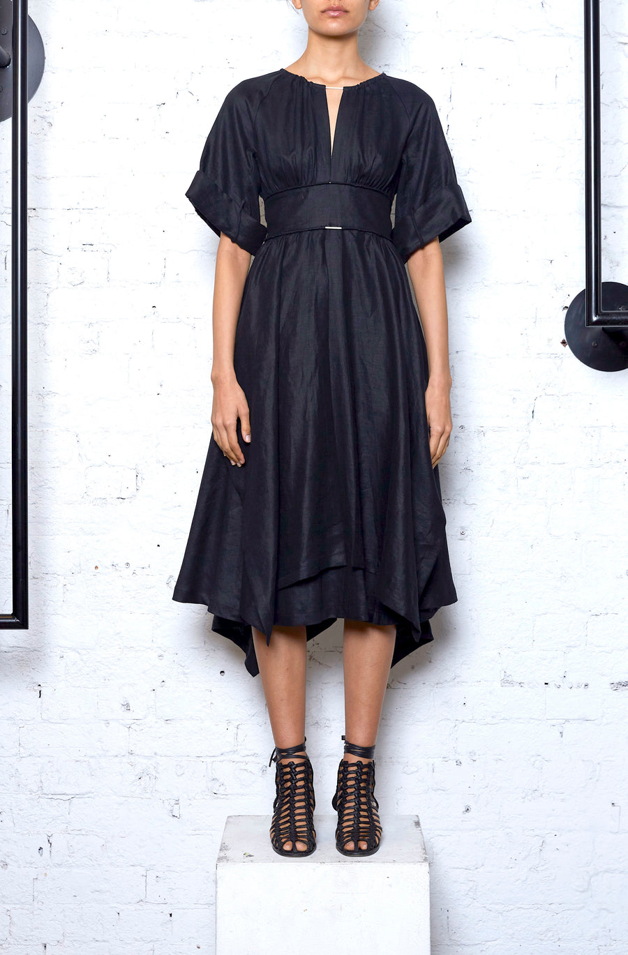 Localised Dress - Black