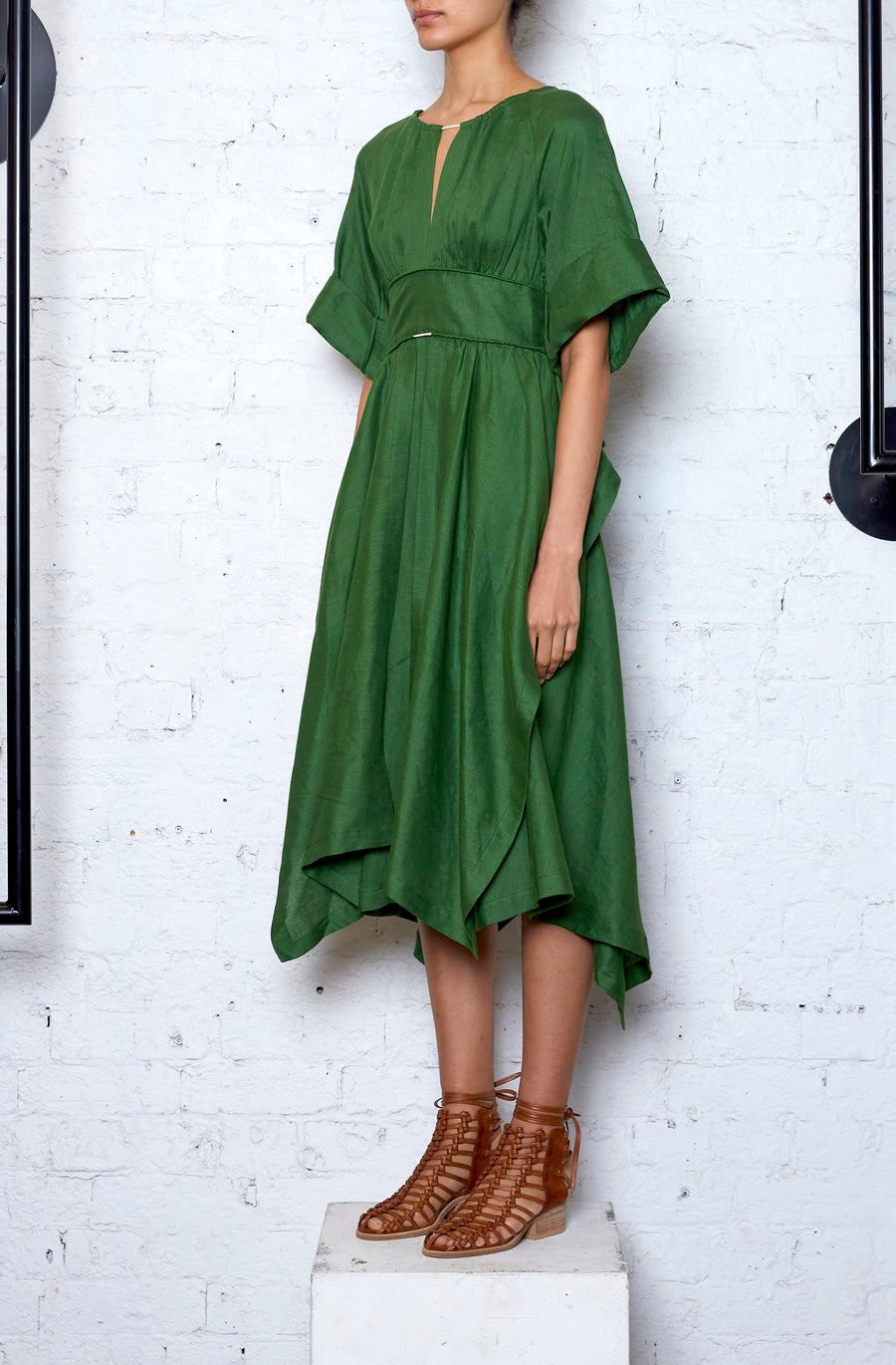 Localised Dress - Green