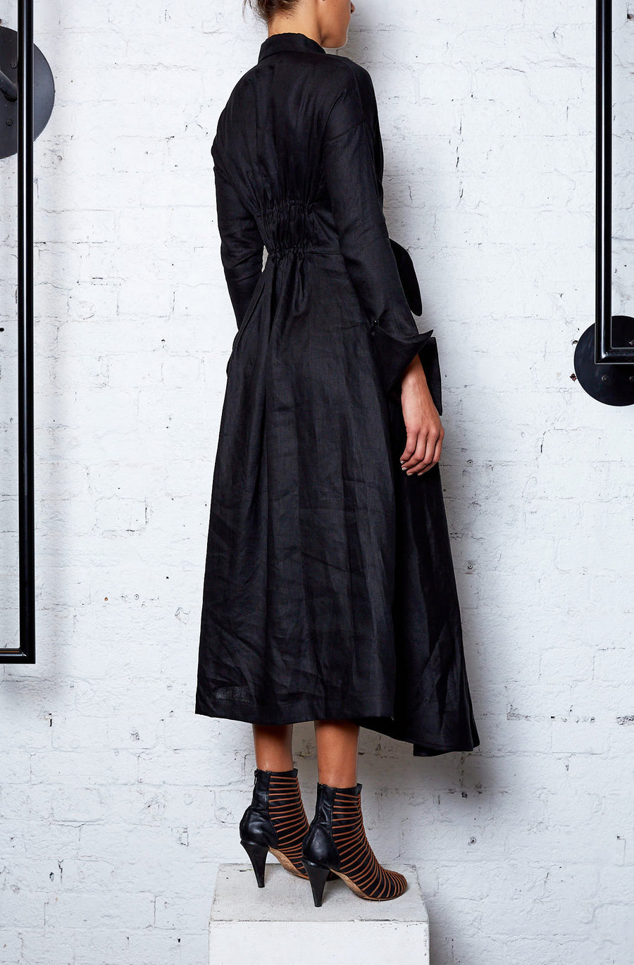 Eco Anthropocene Shirt Dress - Black