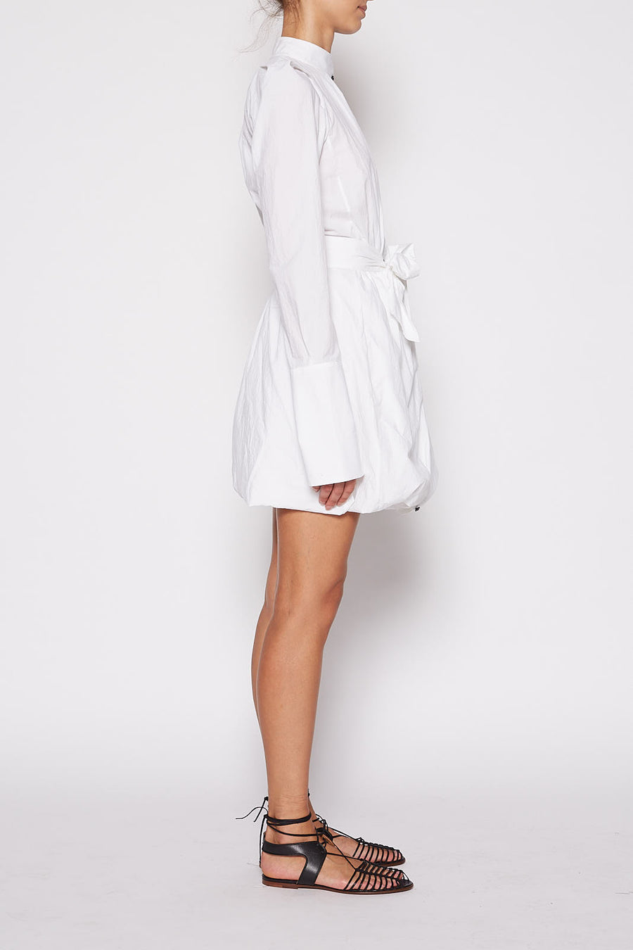 Two Way Shirt Dress - White