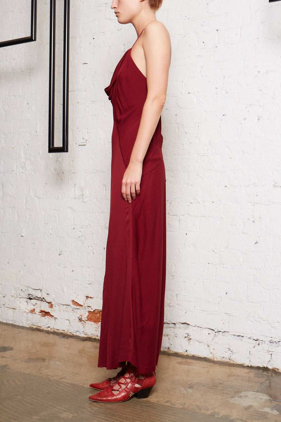 Reproduce Bias Slip Dress - Oxblood