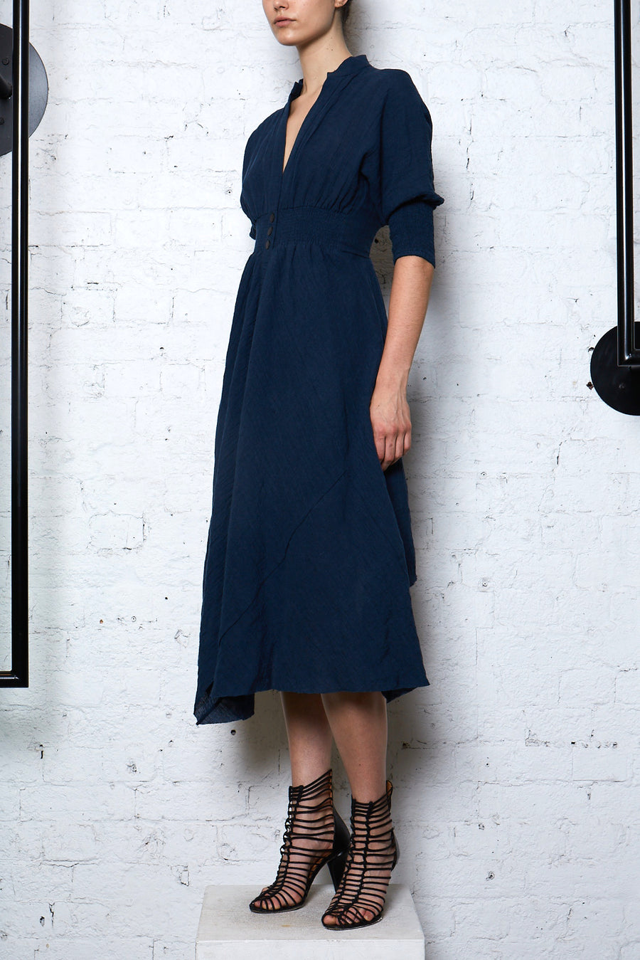 Crushed Linen Shirtdress - Blue Moon